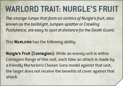 Codex Death Guard Rule Warlord Trait Nurgle's Fruit