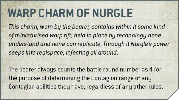 Warhammer 40k V9 Death Guard Rule Warp Charm of Nurgle